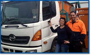 Aaron and Tani Maiolo – Owners of Skip Bins Plus